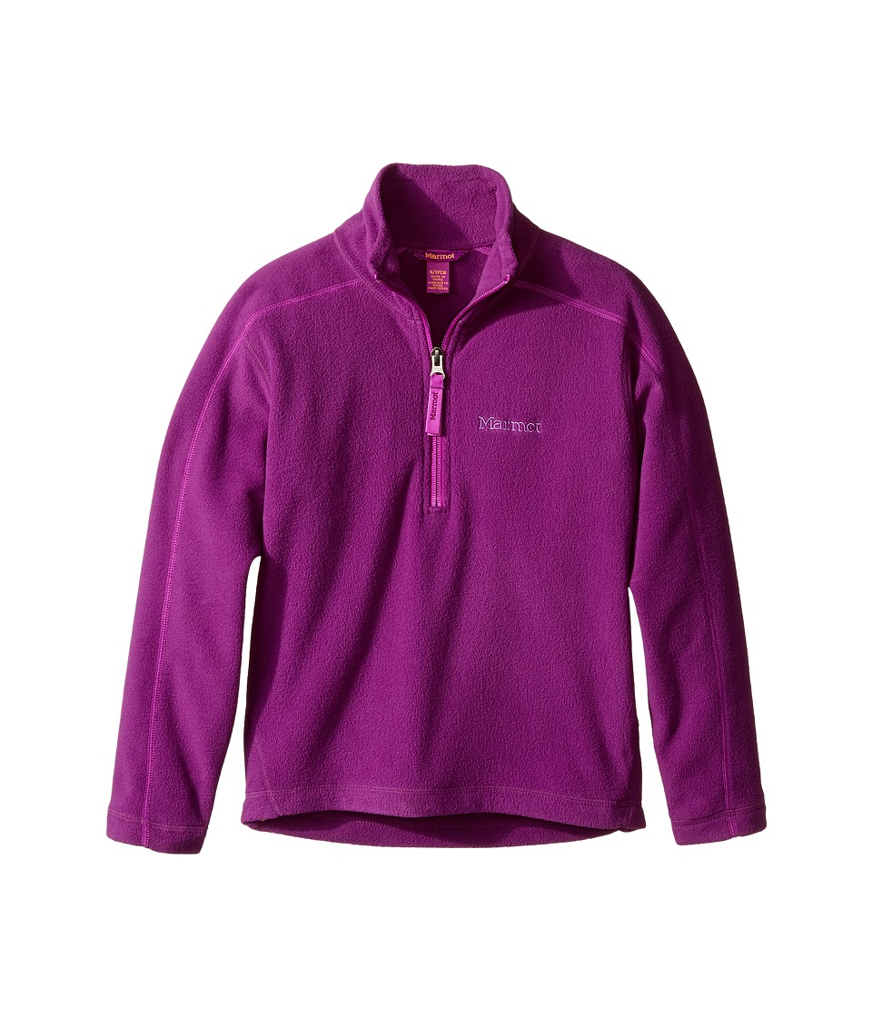 Marmot Kids - Girl's Rocklin 1/2 Zip (Little Kids/Big Kids) (Grape) Girl's Clothing