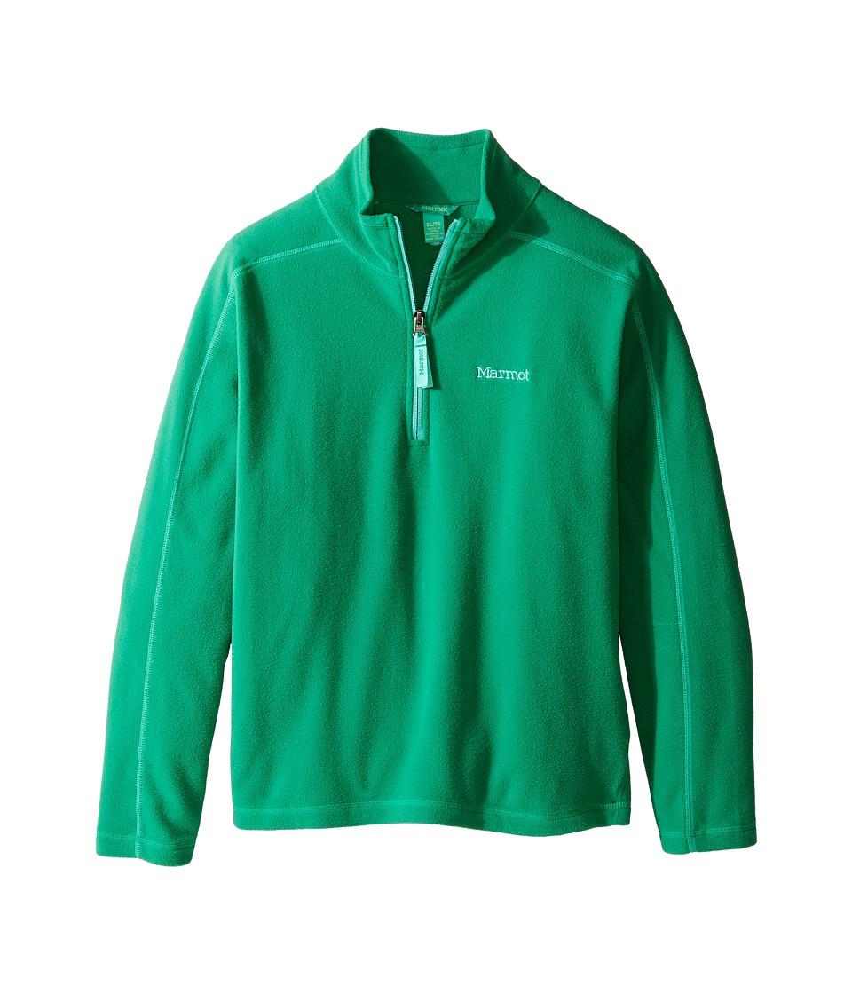 Marmot Kids - Girl's Rocklin 1/2 Zip (Little Kids/Big Kids) (Turf Green) Girl's Clothing