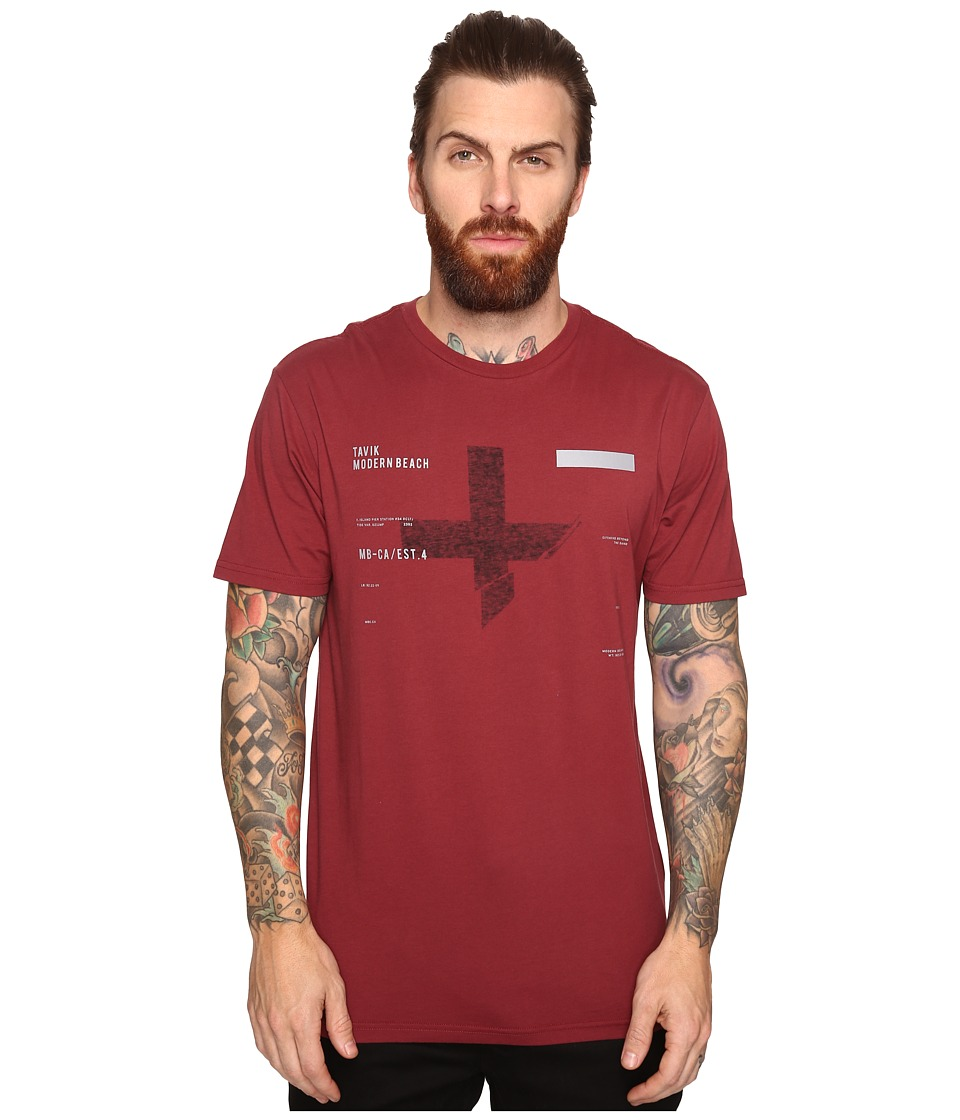 Tavik - Caliber Short Sleeve T-Shirt (Oxblood) Men's T Shirt