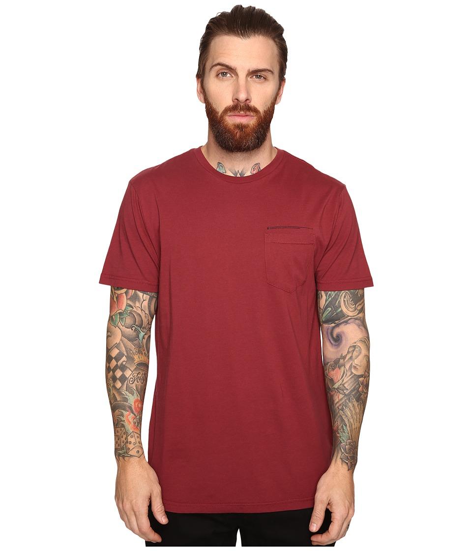 Tavik - Eli Short Sleeve Pocket T-Shirt (Oxblood) Men's T Shirt