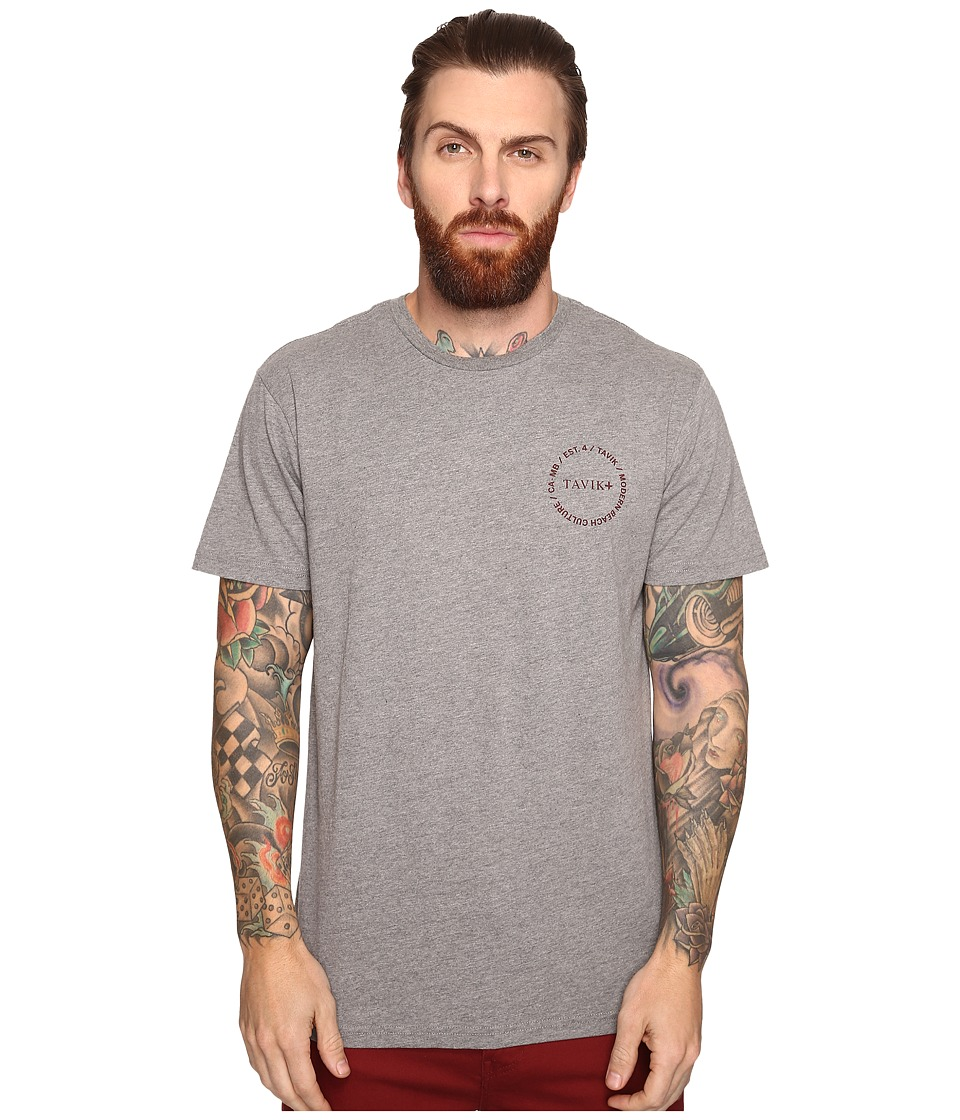 Tavik - Crew Short Sleeve Printed T-Shirt (Heather Grey) Men's T Shirt