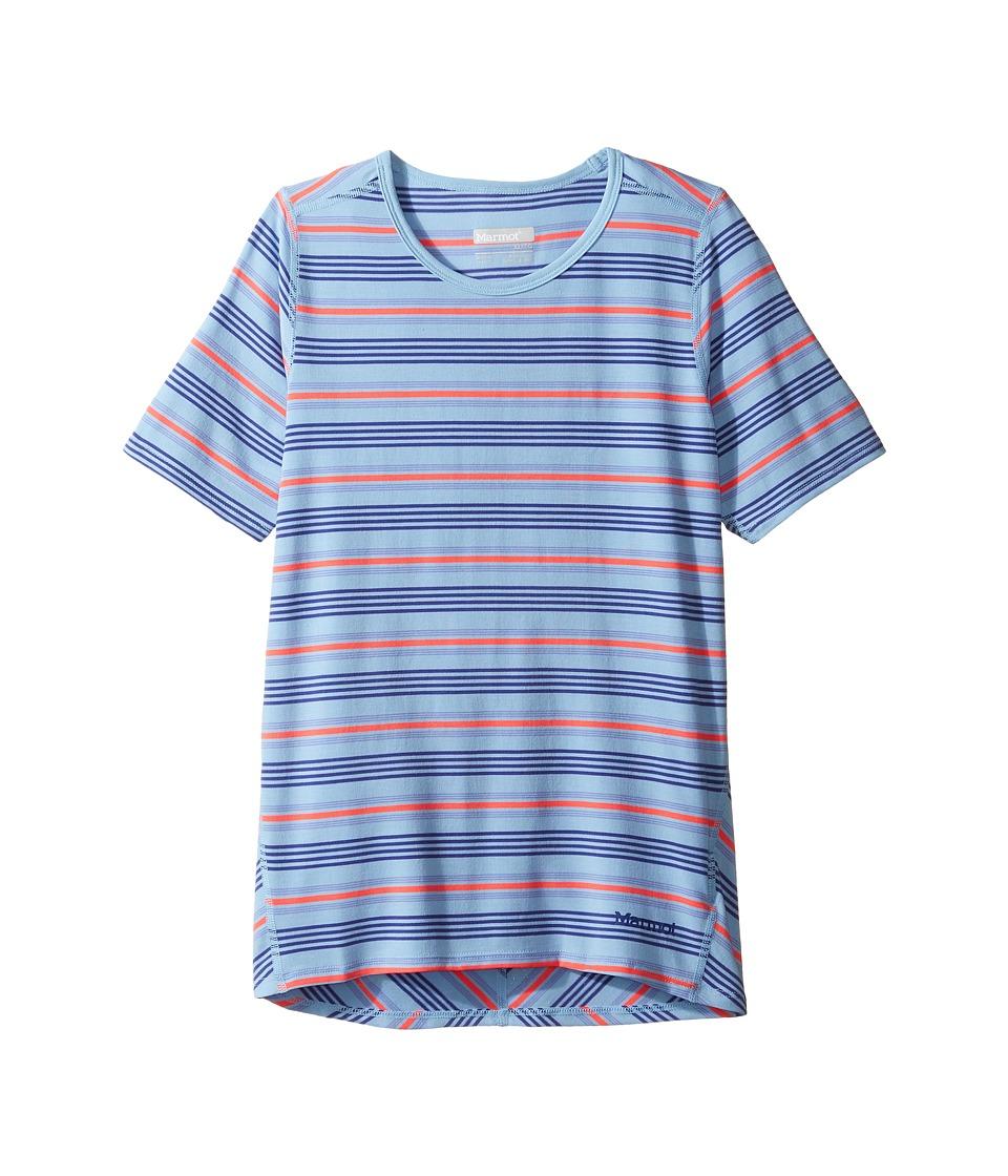Marmot Kids - Gracie Short Sleeve Shirt (Little Kids/Big Kids) (Blue Bell) Girl's T Shirt