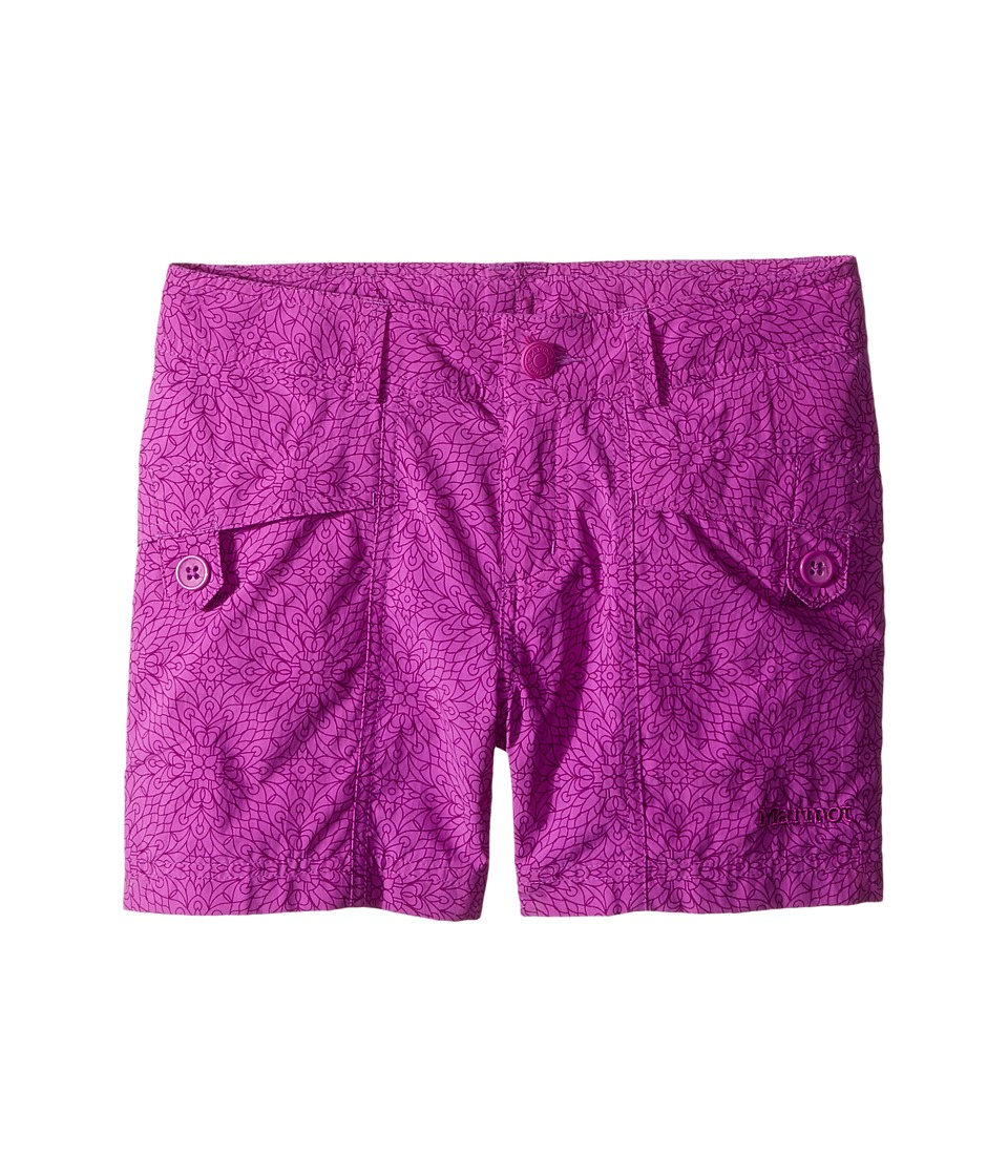 Marmot Kids - Ginny Shorts (Little Kids/Big Kids) (Neon Berry Barcelona) Girl's Shorts