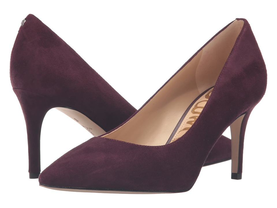 Sam Edelman Tristan Port Wine Kid Suede Leather Womens  Shoes