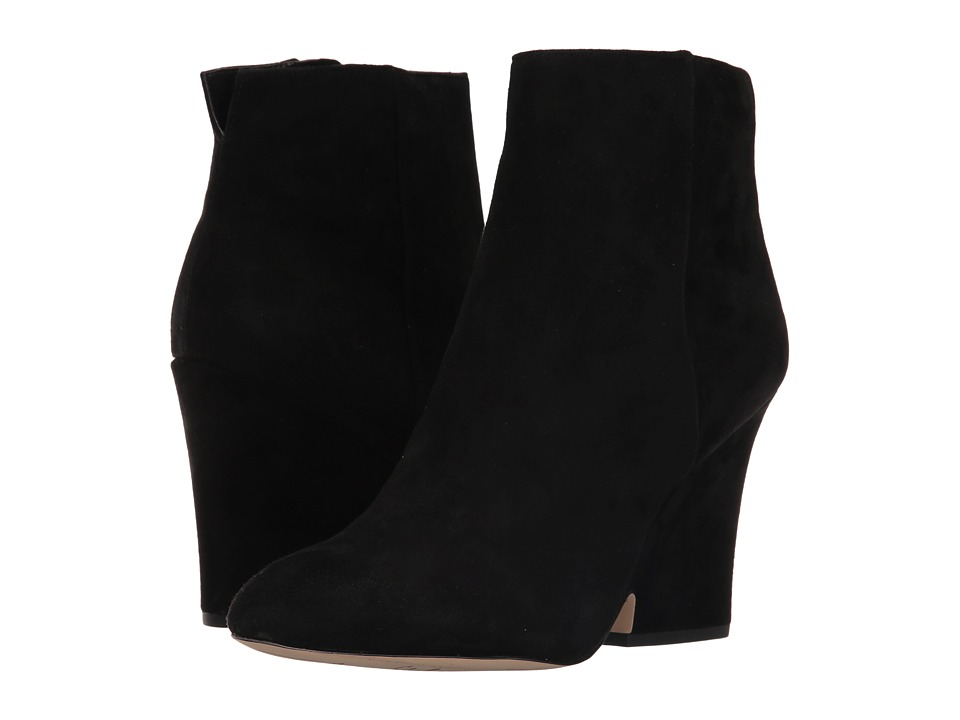 Sam Edelman Wilson Black Kid Suede Leather Shoes