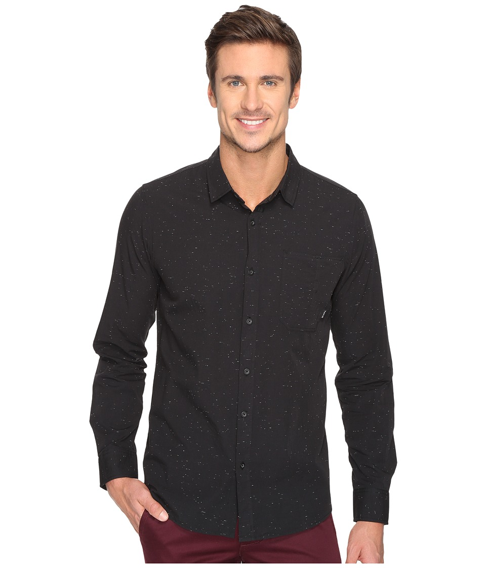 Tavik - Delancy Long Sleeve Woven (Black) Men's Long Sleeve Pullover