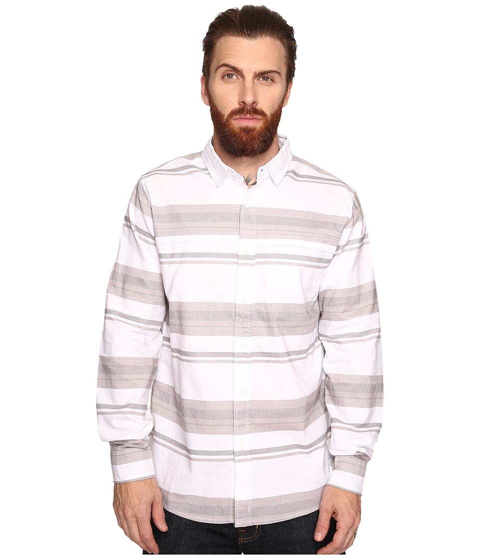 Tavik - Shin Long Sleeve (White/Grey) Men's Short Sleeve Knit