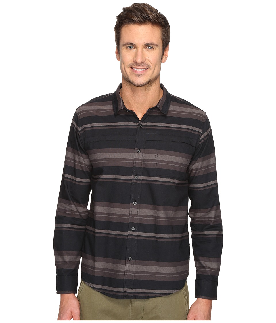 Tavik - Shin Long Sleeve (Black/Grey) Men's Short Sleeve Knit