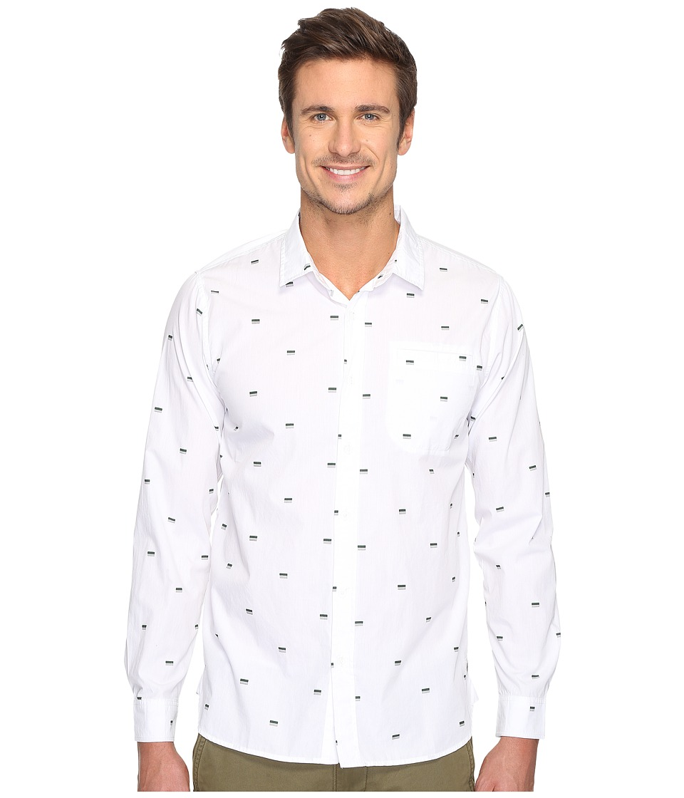 Tavik - Porter Long Sleeve Duo Print (White Duo) Men's Long Sleeve Pullover