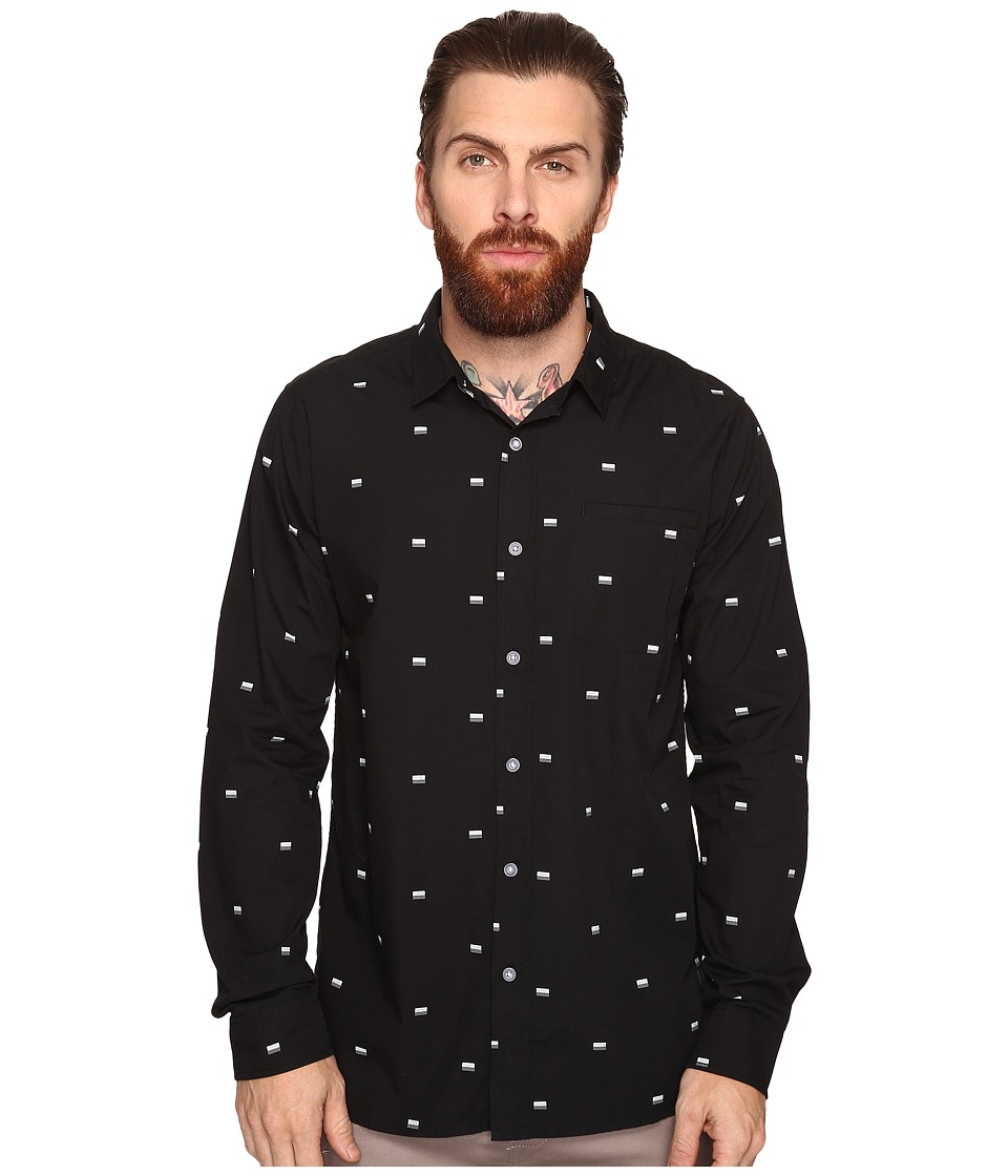 Tavik - Porter Long Sleeve Duo Print (Black Duo) Men's Long Sleeve Pullover