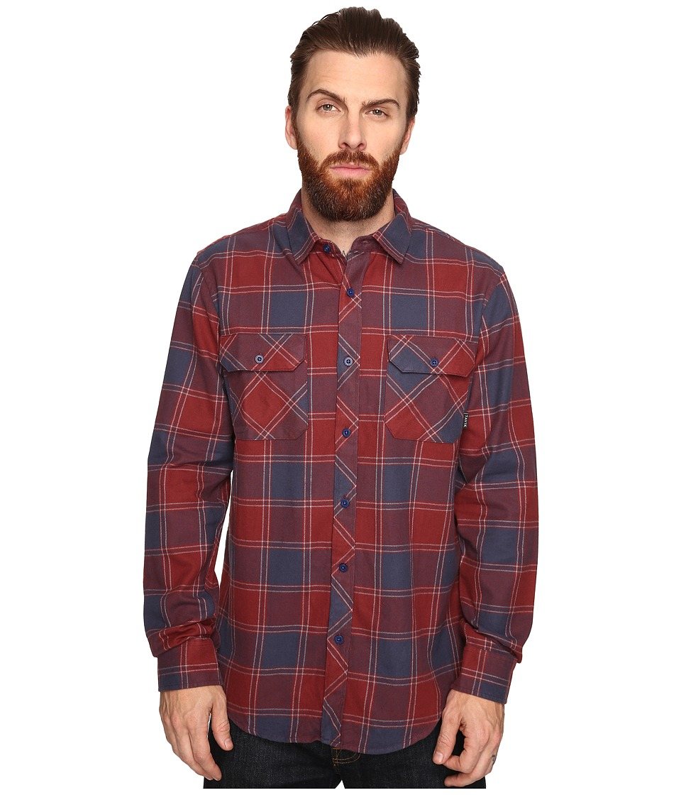 Tavik - Vincent (Oxblood/Nightshade) Men's Long Sleeve Button Up