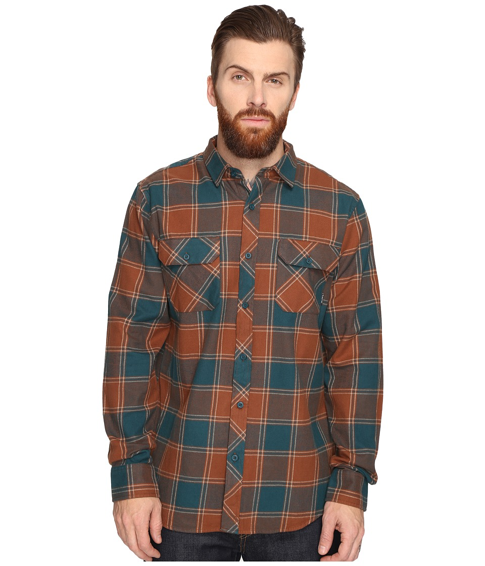 Tavik - Vincent (Brown/Green) Men's Long Sleeve Button Up