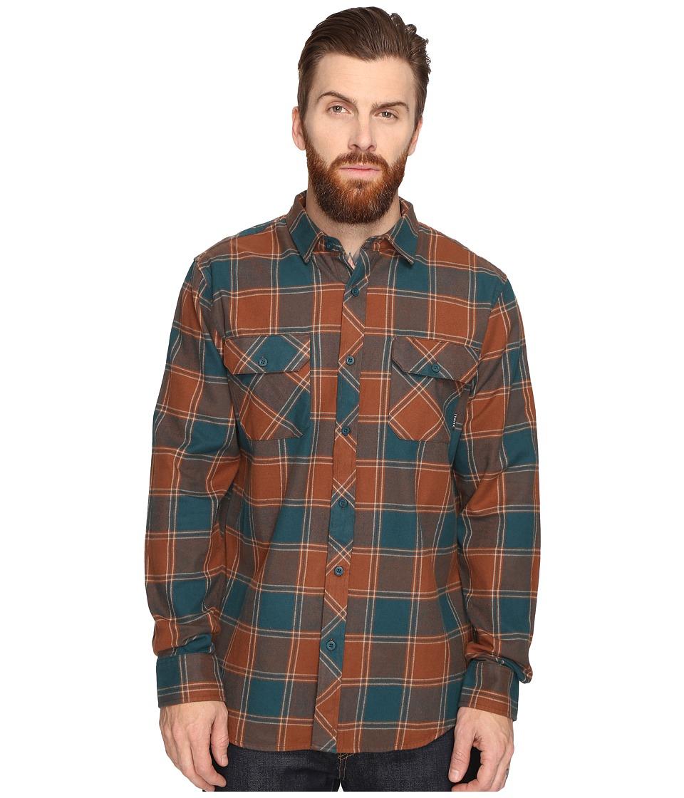 Tavik - Vincent (Brown/Green) Men's Long Sleeve Button Up