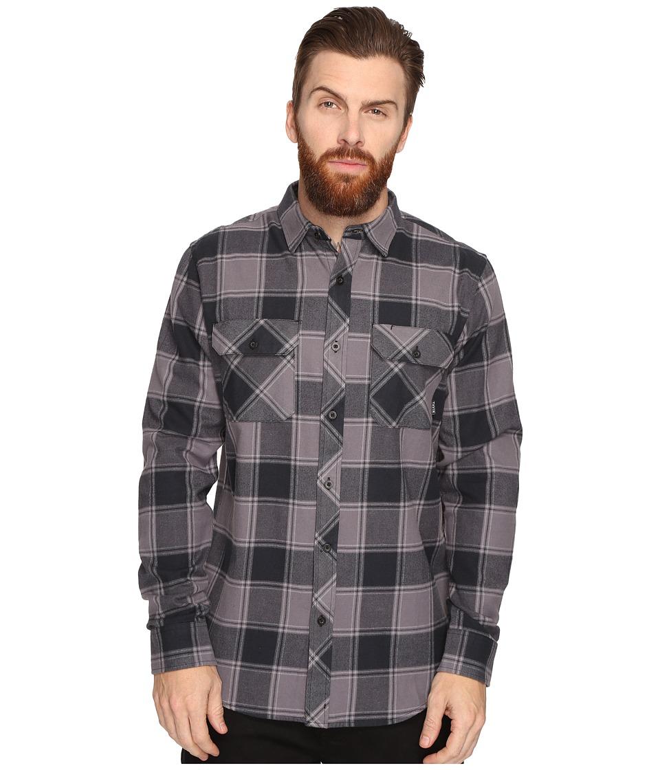 Tavik - Vincent (Black/Grey) Men's Long Sleeve Button Up