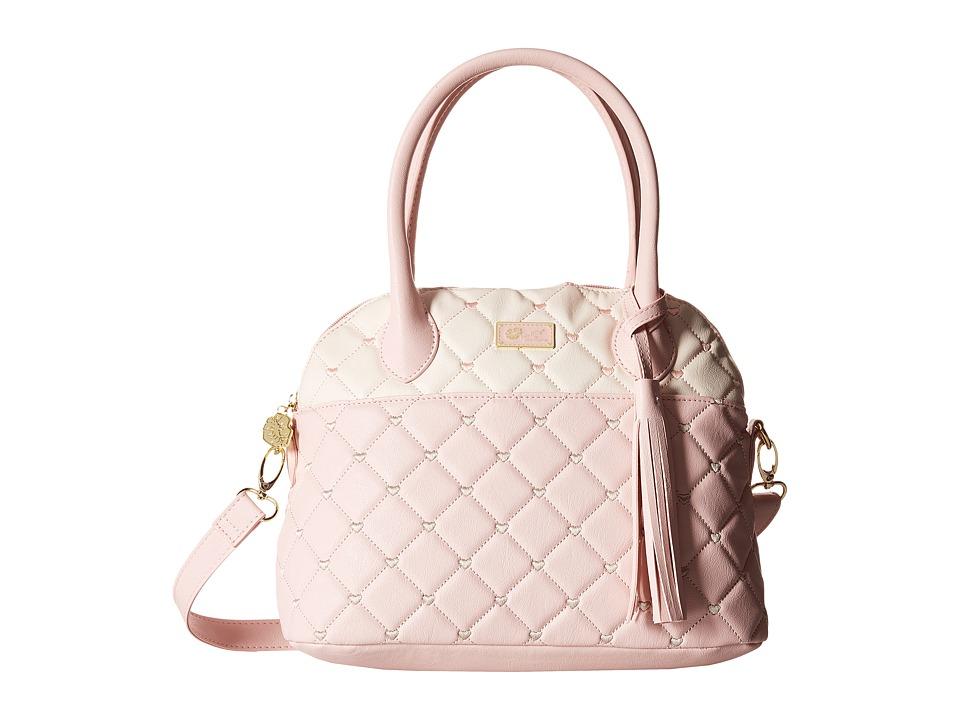 Luv Betsey - Rosiee Quilted Heart Satchel (Blush) Satchel Handbags
