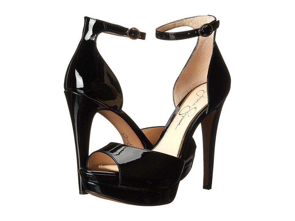 Jessica Simpson - Sylvian (Black Patent) Women's Shoes