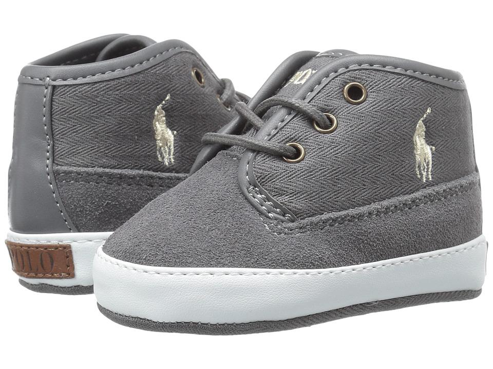 Polo Ralph Lauren Kids - Waylon Mid (Infant/Toddler) (Grey) Boy's Shoes