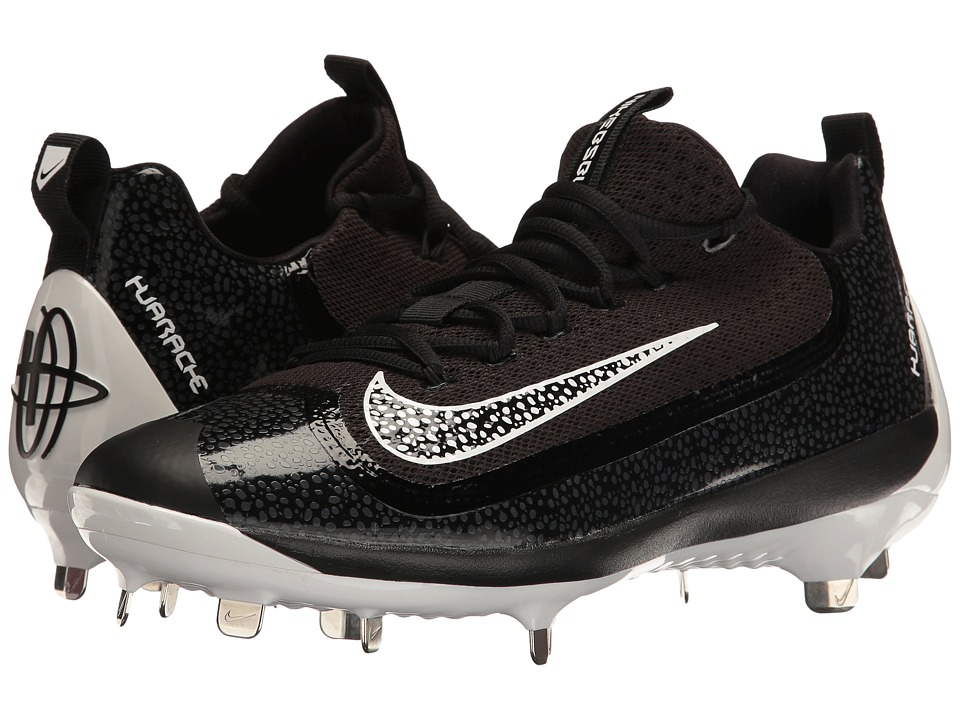 Nike - Air Huarache 2KFilth Elite Low (Black/White/Anthracite/White) Men's Cleated Shoes