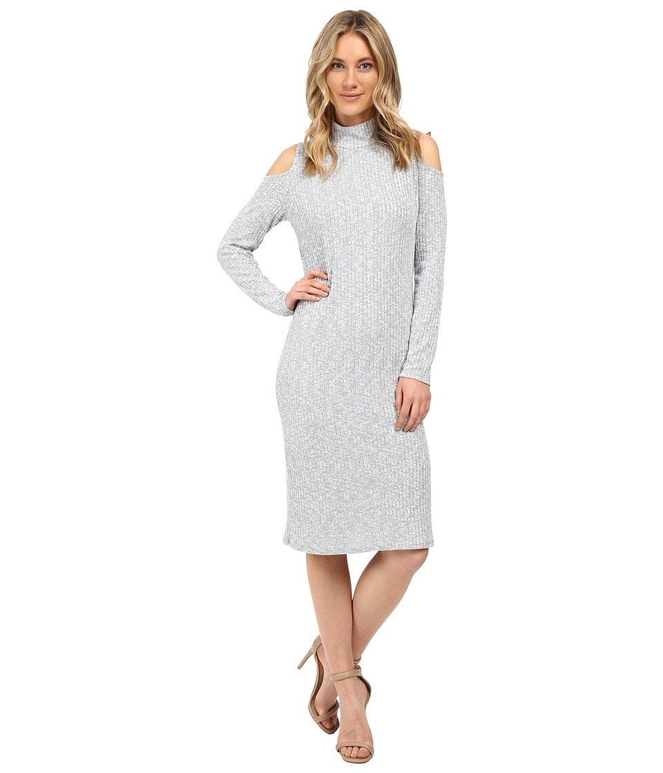 kensie Mixed Rib Dress KS0K7256 (Grey Dusk Combo) Women