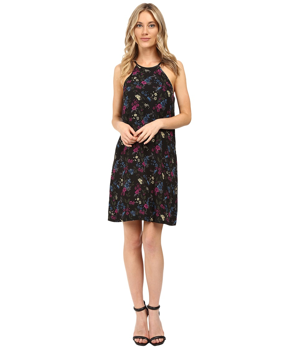 kensie Bird Floral Dress KS0K7269 (Deep Ocean Combo) Women