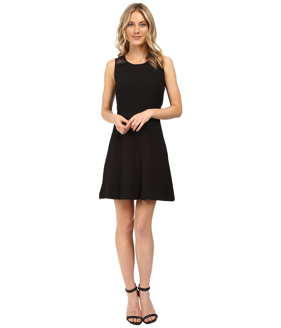 kensie Textured Dot Dress KS0K7242 (Black) Women
