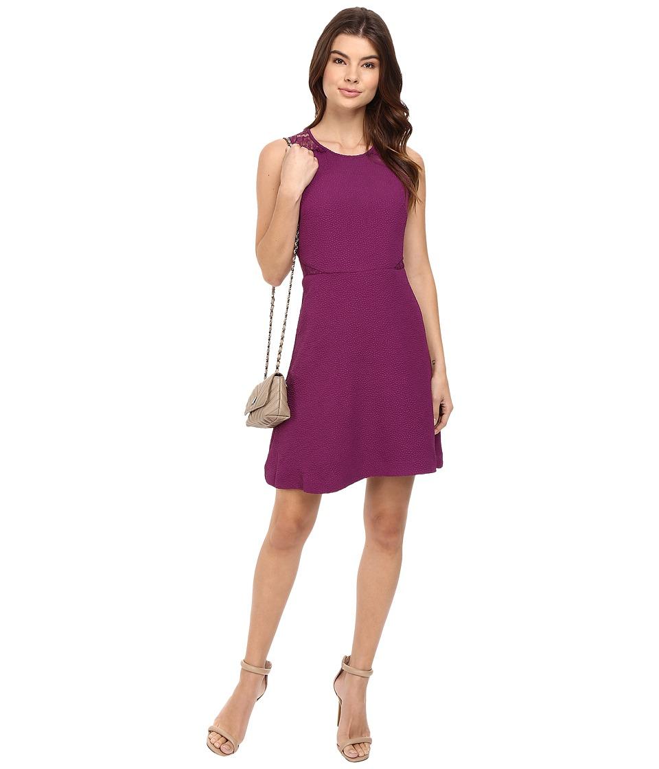 kensie - Textured Dot Dress KS0K7242 (Rich Violet) Women's Dress