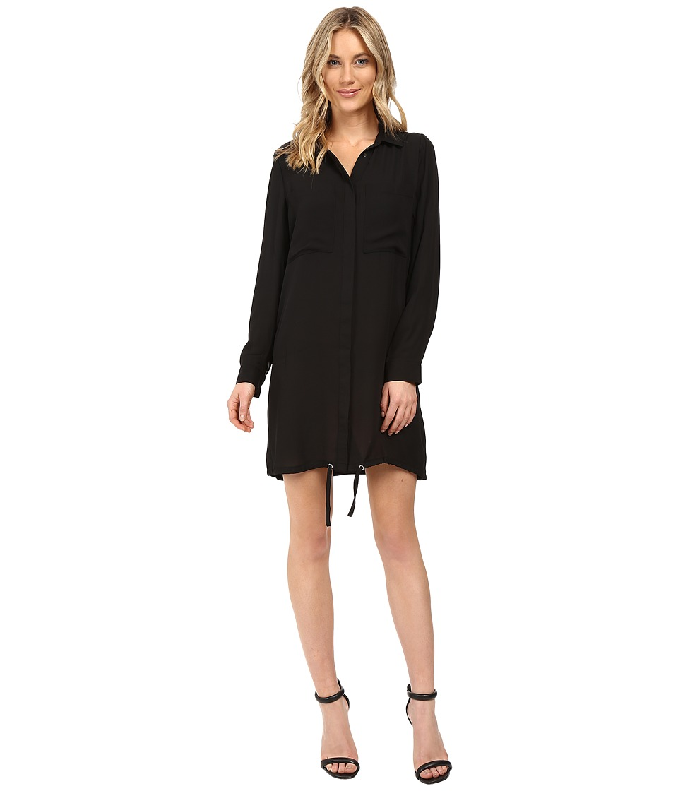 kensie Drapey Crepe Dress KS0K7733 (Black) Women