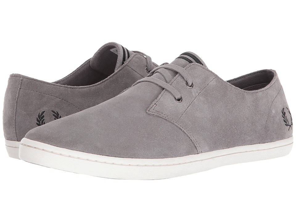 Fred Perry - Byron Low Suede (Falcon Grey/Black) Men's Shoes