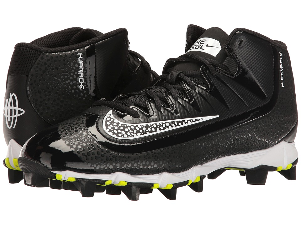 Nike - Huarache 2KFilth Keystone Mid (Black/White/Anthracite) Men's Cleated Shoes