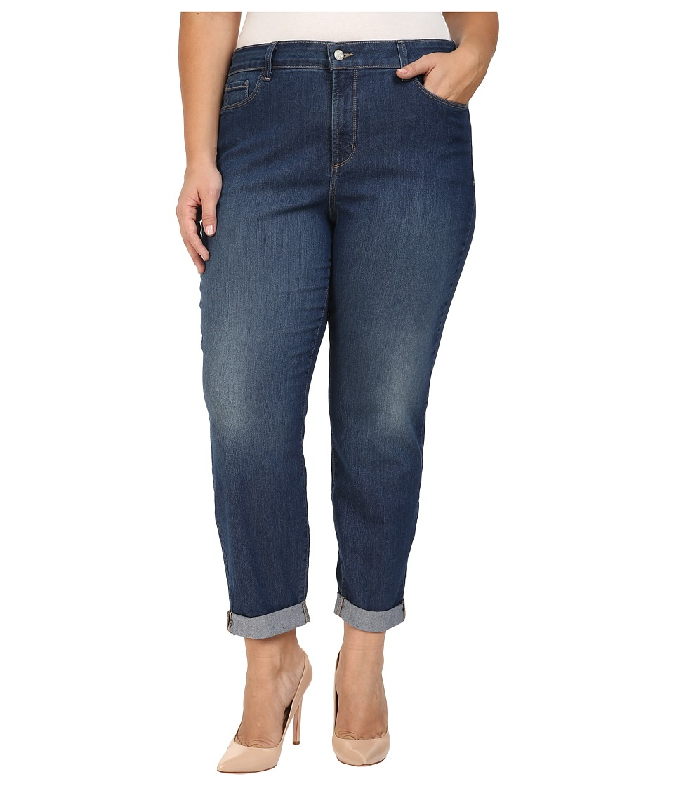 NYDJ Plus Size - Plus Size Sylvia Relaxed Boyfriend Jeans in Cleveland (Cleveland) Women's Jeans