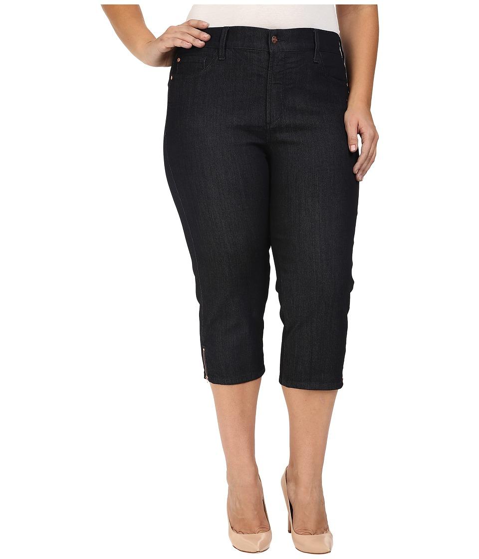 NYDJ Plus Size - Plus Size Ariel Crop Jeans in Dark Enzyme (Dark Enzyme) Women's Jeans