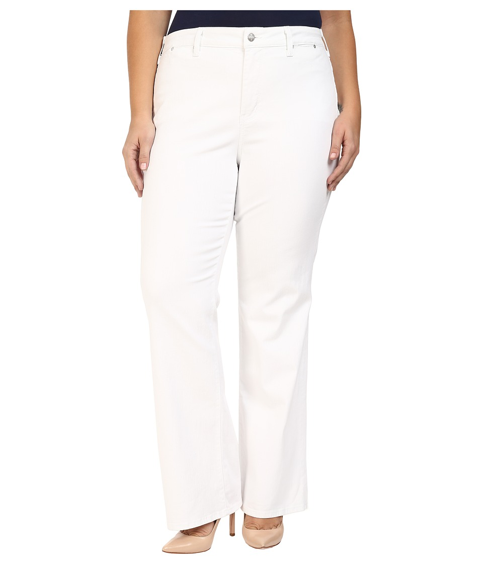 NYDJ Plus Size - Plus Size Isabella Trouser Jeans in Optic White (Optic White) Women's Jeans plus size,  plus size fashion plus size appare