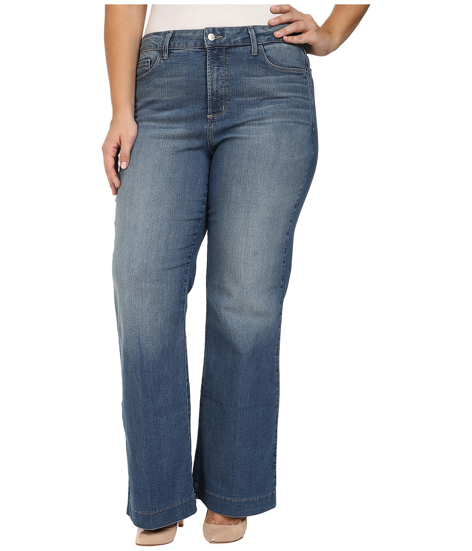 NYDJ Plus Size - Plus Size Addison Wide Leg Trouser Jeans in Istanbul (Istanbul) Women's Jeans