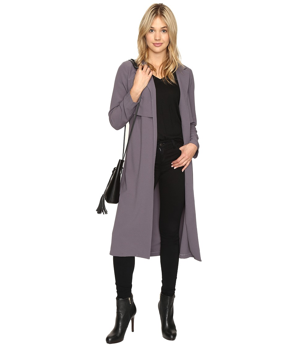 kensie - Drapey Soft Crepe Jacket KSNU2023 (Dark Storm) Women's Coat