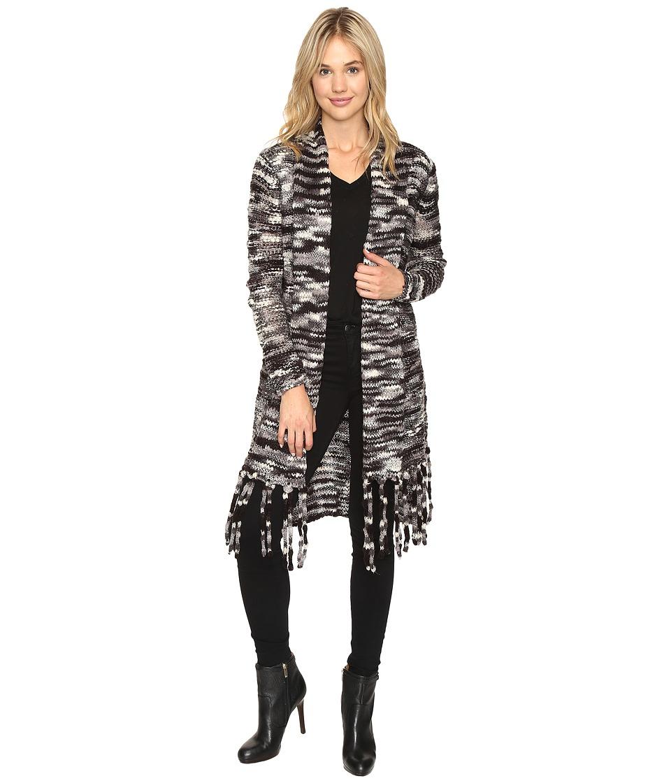 kensie - Chunky Space Dye Cardigan KSNK5524 (Black Combo) Women's Sweater