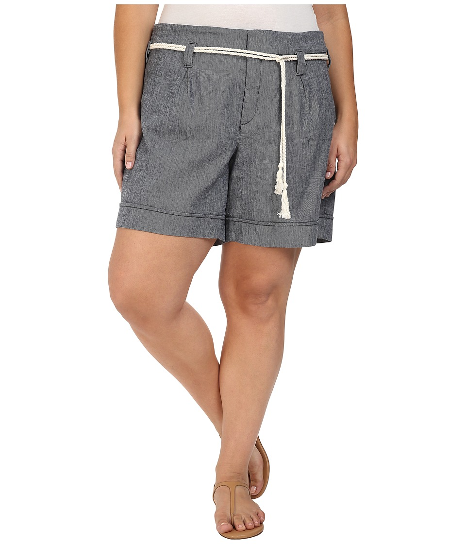 NYDJ Plus Size - Plus Size Layla Shorts in Navy (Navy) Women's Shorts