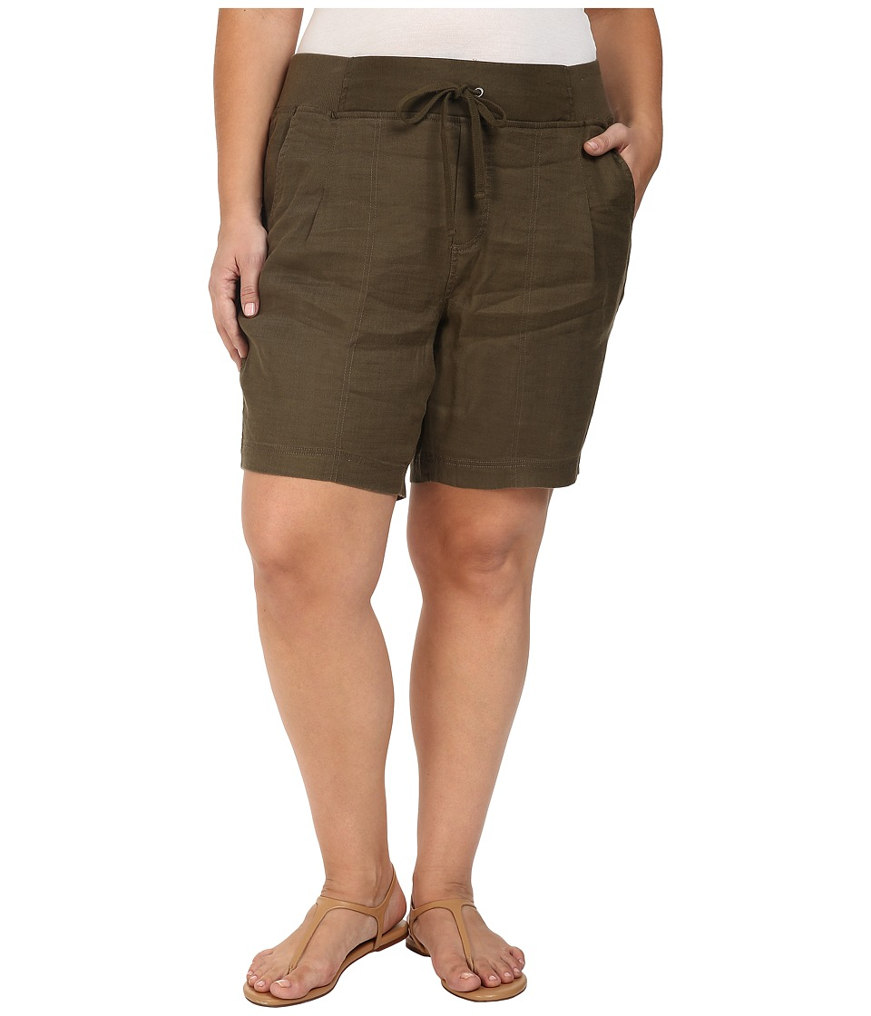 NYDJ Plus Size - Plus Size Candice Shorts in Fatigue (Fatigue) Women's Shorts plus size,  plus size fashion plus size appare