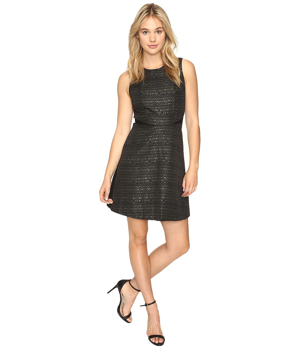 kensie Stacked Sparkle Dress KSNK7262 (Black Combo) Women