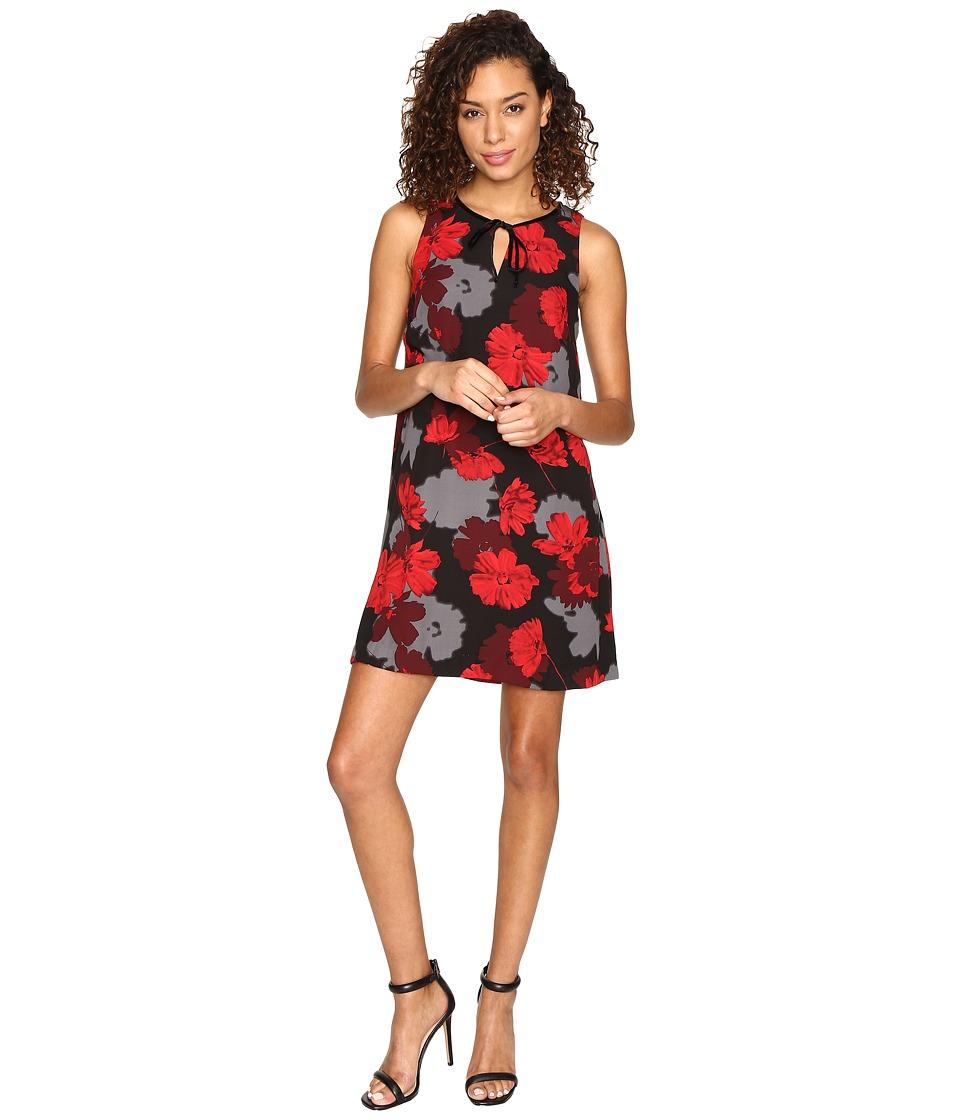 kensie Tossed Flowers Dress KSNK7267 (Black Combo) Women