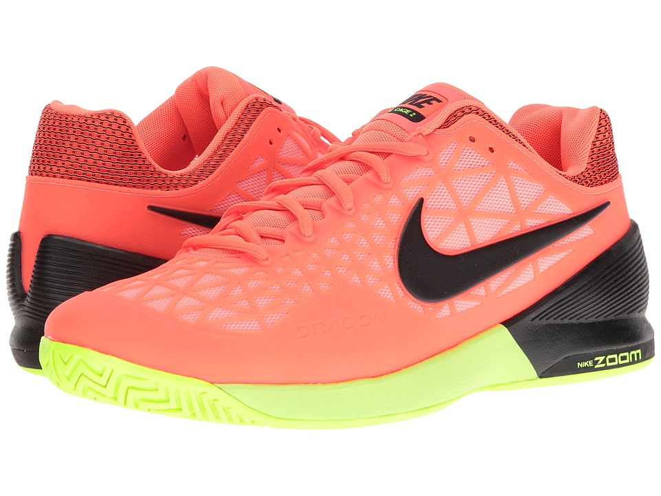 Nike - Zoom Cage 2 (Hyper Orange/Black/Lava Glow/Volt) Men's Tennis Shoes