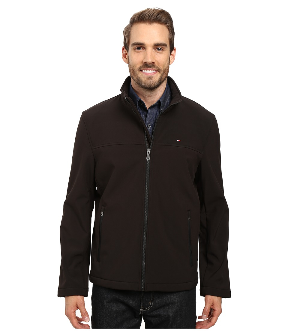Tommy Hilfiger Softshell Classic Zip Front Jacket (Black) Men