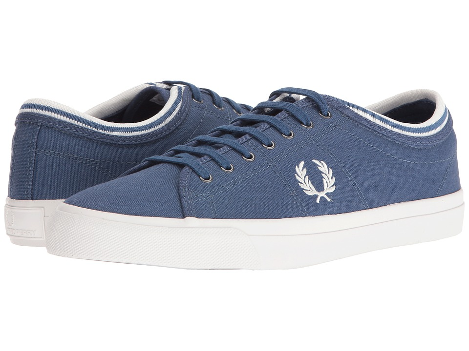 Fred Perry Kendrick Tipped Cuff Canvas (Midnight Blue/Snow White) Men