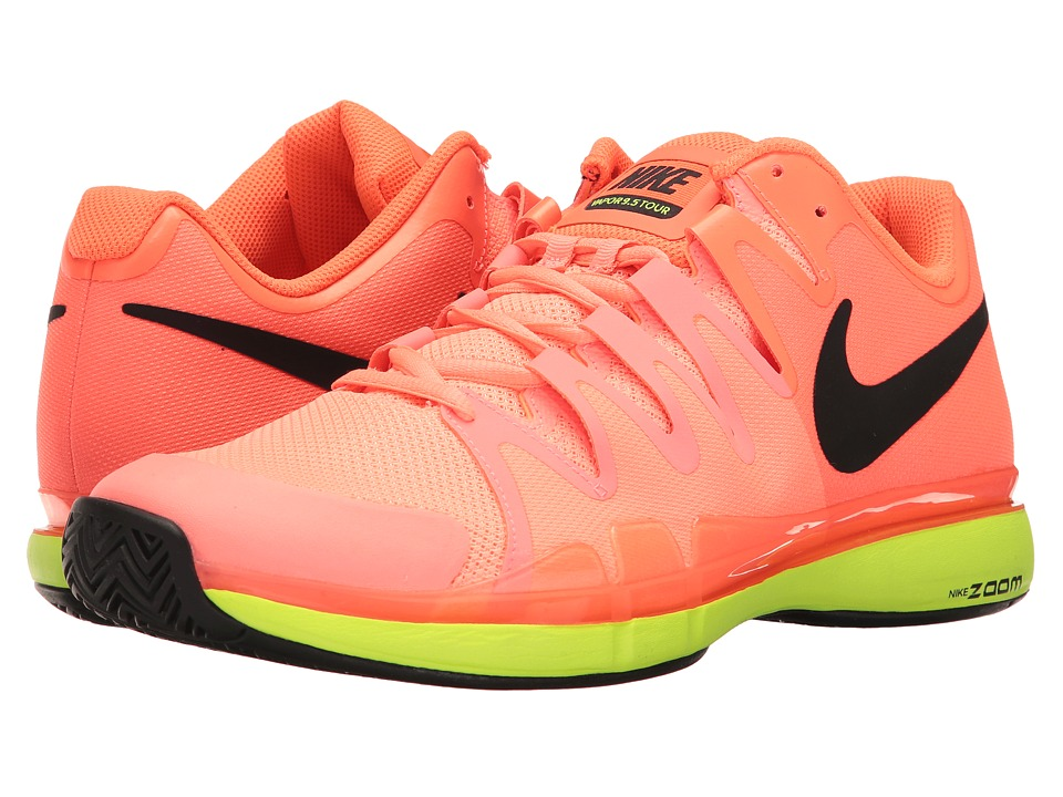 Nike - Zoom Vapor 9.5 Tour (Lava Glow/Black/Hyper Orange/Volt) Men's Tennis Shoes