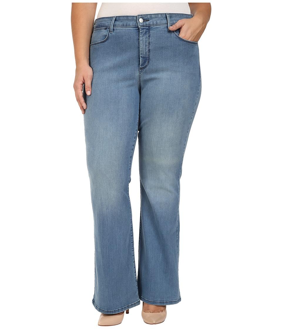 NYDJ Plus Size - Plus Size Farrah Flared Jeans in Monaco (Monaco) Women's Jeans