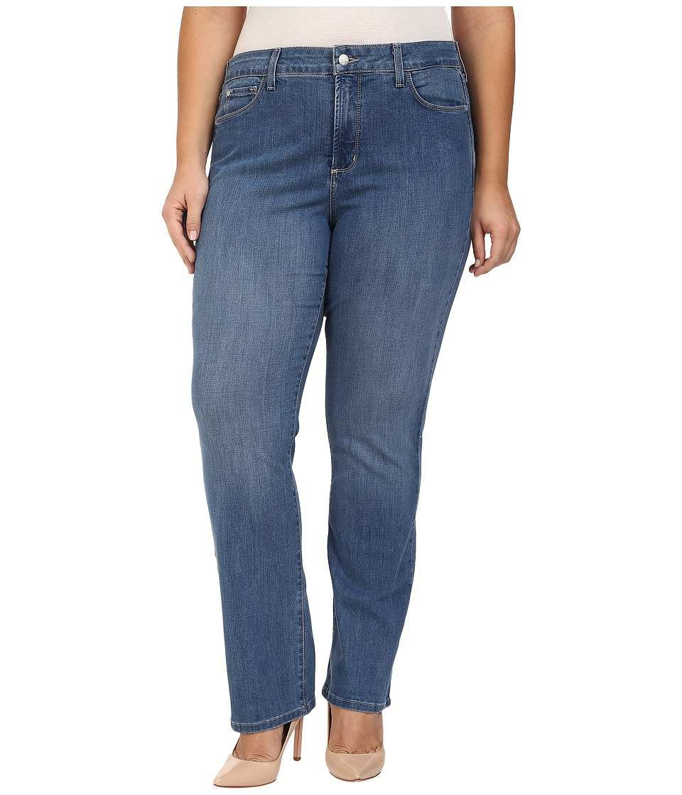 NYDJ Plus Size - Plus Size Marilyn Straight Jeans in Arabian Sea (Arabian Sea) Women's Jeans