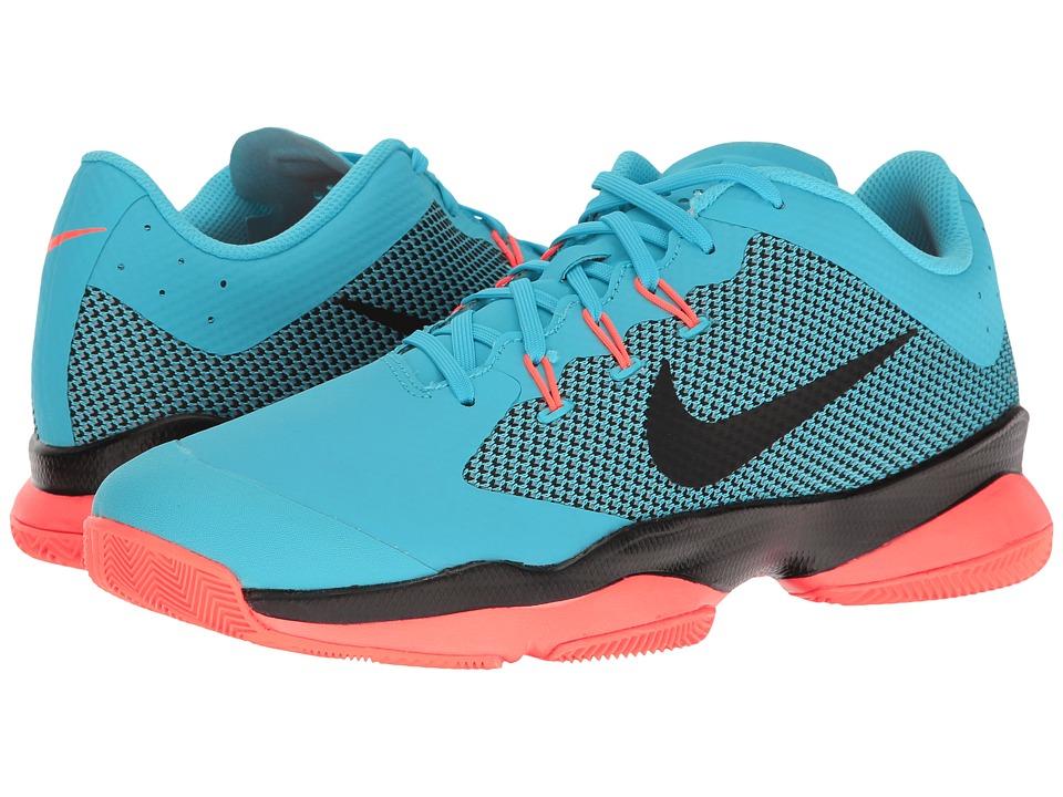 Nike - Air Zoom Ultra (Polarized Blue/Black/Hyper Orange) Men's Tennis Shoes