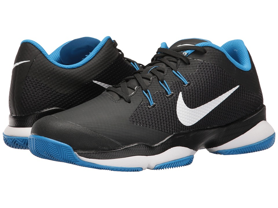 Nike - Air Zoom Ultra (Black/White/Light Photo Blue) Men's Tennis Shoes