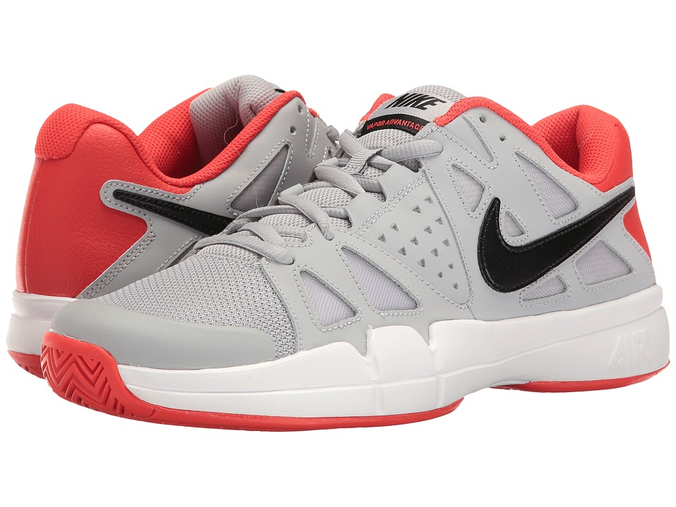 Nike - Air Vapor Advantage (Wolf Grey/Black/Max Orange/White) Men's Tennis Shoes