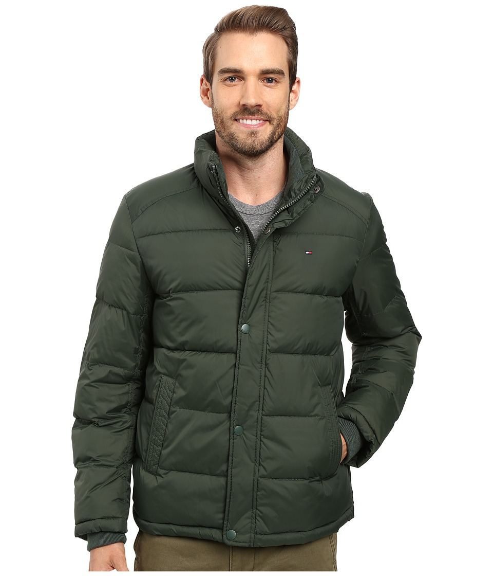Tommy Hilfiger - Classic Nylon Puffer (Hunter Green) Men's Coat