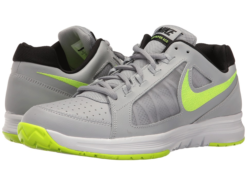 Nike - Air Vapor Ace (Wolf Grey/Volt/White/Black) Men's Tennis Shoes